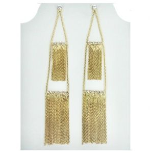 Pretty dangling party earrings- gold or silver